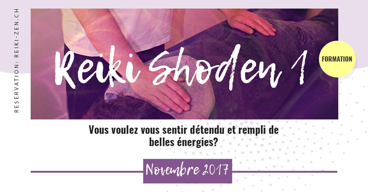 Formation Reiki 1 - Shoden - Novembre 2017